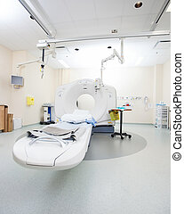 CT Scan Room - Empty CT scan room in hospital