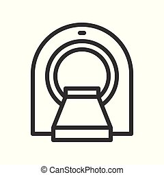 ct scanner, hospital related simple outline icon