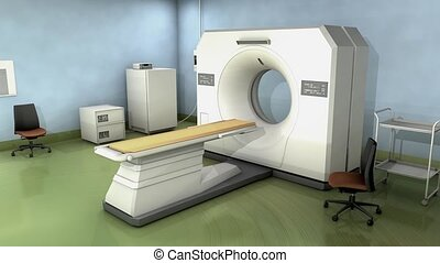CT Scanner room.