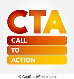 CTA - Call To Action acronym