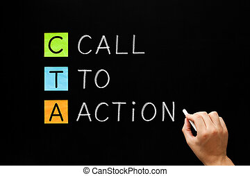CTA - Call To Action Marketing Concept