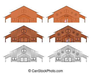 CTG shed colored. CTG shed. Center of Gaucho Traditions. ...