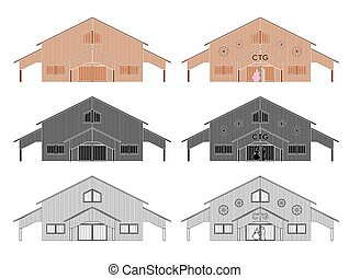 CTG shed colored without outline. CTG shed. Center of Gaucho...