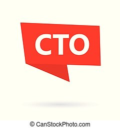 CTO (Chief Technology Officer) acronym on a sticker- vector...