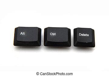 ctrl, alt, キー, -, del, キーボード