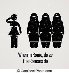 cuándo, en, roma, haga, como, el, romanos, haga