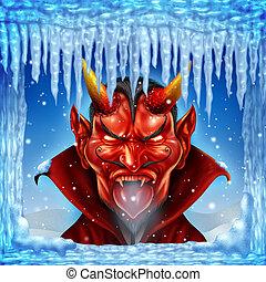 cuándo, encima, infierno, congelaciones