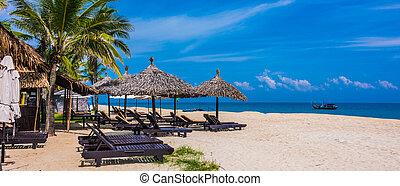 cua, playa, hoi, vietnam, mar, arenoso, dai