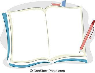 cuaderno, blanco