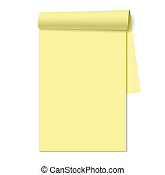 cuaderno, bloc, blanco