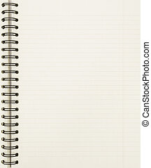 cuaderno, hoja, blanco