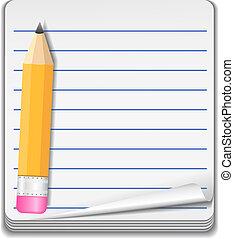 cuaderno, icono