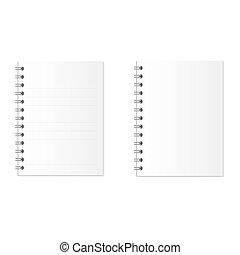 cuaderno, o, paperbook., empresa / negocio, y, educación