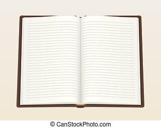 cuaderno, vacío