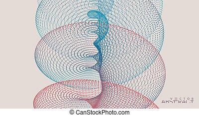 cuadrícula, particles., resumen, design., sonido, ...