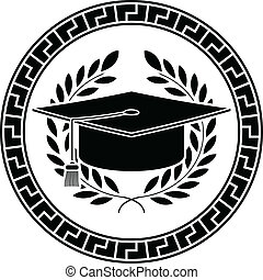cuadrado, académico, cap., plantilla