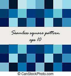 cuadrado azul, plano de fondo, resumen, seamless, patrón, vector, tonos
