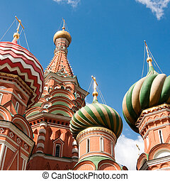 cuadrado, basil's, s., catedral, moscú, rojo