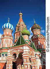 cuadrado, basil\'s, s., moscú, catedral, rusia, rojo