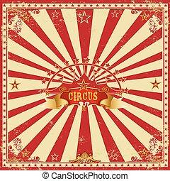 cuadrado, circo, tarjeta roja