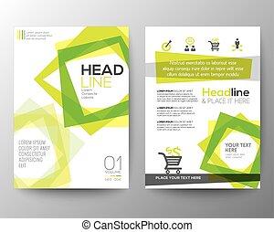 cuadrado, disposición, Plano de fondo, cartel, Extracto, forma,  vector, diseño, plantilla, folleto, aviador