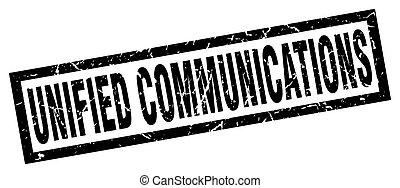 cuadrado, grunge, negro, unificado, comunicaciones,...