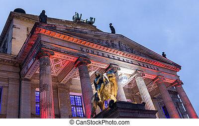 cuadrado, konzerthaus, gendarmenmarkt, berlín, alemania, berlín