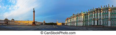 cuadrado, palacio, petersburg, panorama, s.