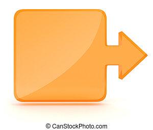 cuadrado, plano de fondo, forma, flecha, blanco, 3d