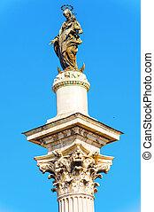 cuadrado, plaza, obelisco, esquiline, dell`esquilino, rom