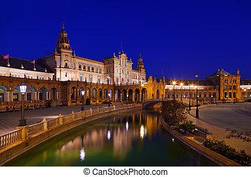 cuadrado, sevilla, españa, palacio, español