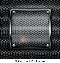 cuadrado, tela, botón