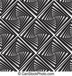 cuadrados, patrón, vector, seamless, ilustración