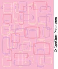 cuadrados, retro, plano de fondo