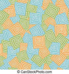 cuadrados, seamless, patrón