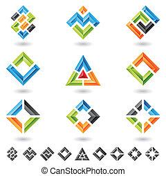cuadrados, triángulos, rectángulos