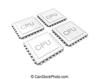cuadratura, unidad central de procesamiento, núcleo