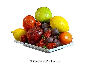 cuadros, vegetales, fruta, mejor, y