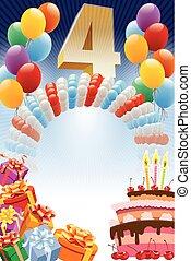 cuarto, cumpleaños