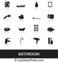 cuarto de baño, eps10, iconos