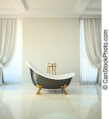 cuarto de baño, estilo, clásico
