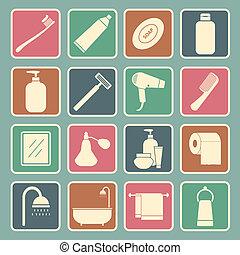 cuarto de baño, icono