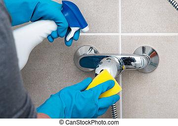 cuarto de baño, limpieza