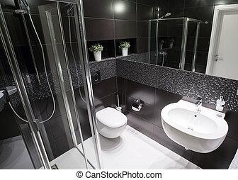 cuarto de baño, lujo, ducha