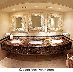 cuarto de baño, mármol