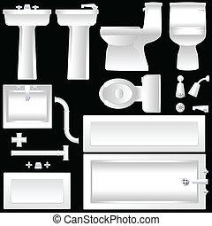cuarto de baño, mobiliario