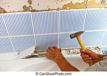 cuarto de baño, renvoviert