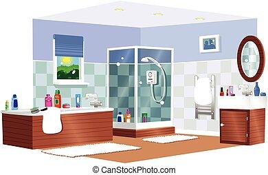 cuarto de baño, típico