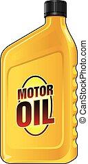 cuarto de galón, aceite, motor
