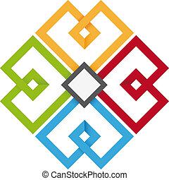 cuatro, colores, hoja de trébol
